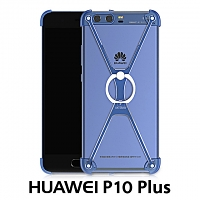Huawei P10 Plus Metal X Bumper Case with Finger Ring
