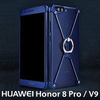Huawei Honor 8 Pro / V9 Metal X Bumper Case with Finger Ring