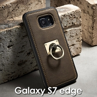 Samsung Galaxy S7 edge Detachable Finger Ring Back Case