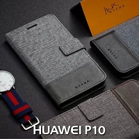Huawei P10 Canvas Leather Flip Card Case