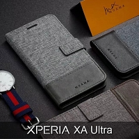 Sony Xperia XA Ultra Canvas Leather Flip Card Case