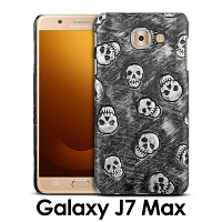 Samsung Galaxy J7 Max Embossed Skull Back Case
