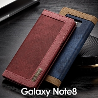 Samsung Galaxy Note8 Jeans Leather Wallet Case