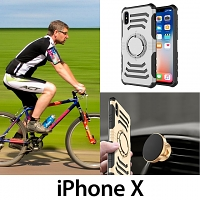 iPhone X Magnetic Shell Case with Armband