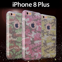 iPhone 8 Plus Camouflage Glitter Soft Case