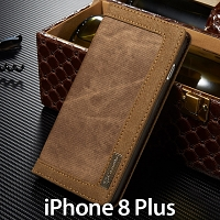 iPhone 8 Plus Jeans Leather Wallet Case