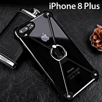 iPhone 8 Plus Metal X Bumper Case with Finger Ring