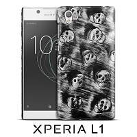 Sony Xperia L1 Embossed Skull Back Case