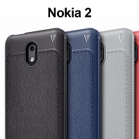 LENUO Gentry Series Leather Coated TPU Case for Nokia 2