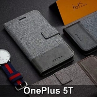 OnePlus 5T Canvas Leather Flip Card Case