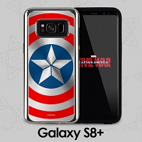 MARVEL Captain America Shield Case for Samsung Galaxy S8+