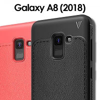 LENUO Gentry Series Leather Coated TPU Case for Samsung Galaxy A8+ (2018)