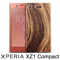 Sony Xperia XZ1 Compact Woody Patterned Back Case