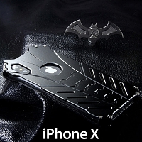 iPhone X Bat Armor Metal Case