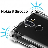 Imak Shockproof TPU Soft Case for Nokia 8 Sirocco