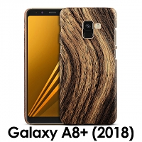 Samsung Galaxy A8+ (2018) Woody Patterned Back Case