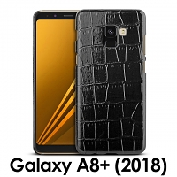 Samsung Galaxy A8+ (2018) Crocodile Leather Back Case