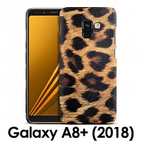 Samsung Galaxy A8+ (2018) Embossed Leopard Stripe Back Case