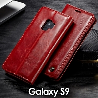 Samsung Galaxy S9 Magnetic Flip Leather Wallet Case