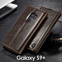 Samsung Galaxy S9+ Magnetic Flip Leather Wallet Case