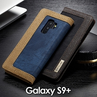 Samsung Galaxy S9+ Jeans Leather Wallet Case