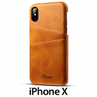 iPhone X Claf PU Leather Case with Card Holder
