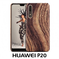 Huawei P20 Woody Patterned Back Case