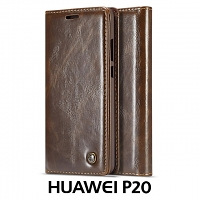 Huawei P20 Magnetic Flip Leather Wallet Case