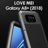 LOVE MEI Samsung Galaxy A8+ (2018) Powerful Bumper Case