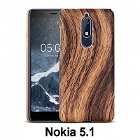 Nokia 5.1 Woody Patterned Back Case