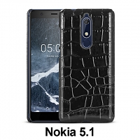 Nokia 5.1 Crocodile Leather Back Case