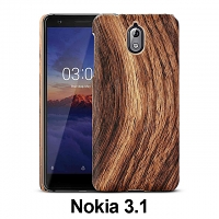 Nokia 3.1 Woody Patterned Back Case