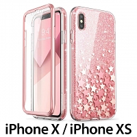 i-Blason Cosmo Slim Designer Case (Star Glitter Pink) for iPhone X / iPhone XS (5.8)