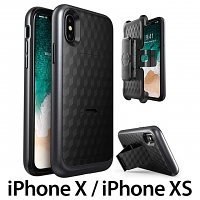i-Blason Transformer Dual-Layer Holster Case with Kickstand for iPhone X / iPhone XS (5.8)