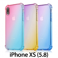 iPhone XS (5.8) Gradient Shockproof TPU Soft Case