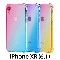 iPhone XR (6.1) Gradient Shockproof TPU Soft Case