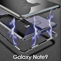 Samsung Galaxy Note9 Magnetic Aluminum Case with Tempered Glass
