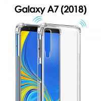 Imak Shockproof TPU Soft Case for Samsung Galaxy A7 (2018)
