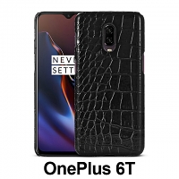 OnePlus 6T Crocodile Leather Back Case