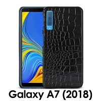 Samsung Galaxy A7 (2018) Crocodile Leather Back Case
