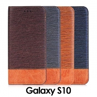 Samsung Galaxy S10 Two-Tone Leather Flip Case