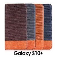 Samsung Galaxy S10+ Two-Tone Leather Flip Case