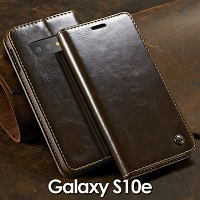 Samsung Galaxy S10e Magnetic Flip Leather Wallet Case