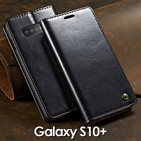 Samsung Galaxy S10+ Magnetic Flip Leather Wallet Case