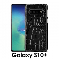 Samsung Galaxy S10+ Crocodile Leather Back Case