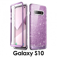 i-Blason Cosmo Slim Designer Case (Glitter Purple) for Samsung Galaxy S10