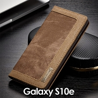 Samsung Galaxy S10e Jeans Leather Wallet Case