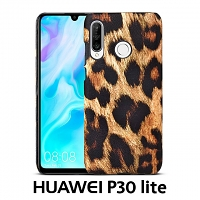 Huawei P30 lite Embossed Leopard Stripe Back Case