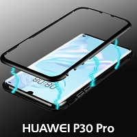 Huawei P30 Pro Magnetic Aluminum Case with Tempered Glass