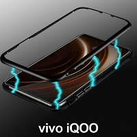 vivo iQOO Magnetic Aluminum Case with Tempered Glass